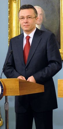 Romanian Foreign Minister Cristian Diaconescu ...