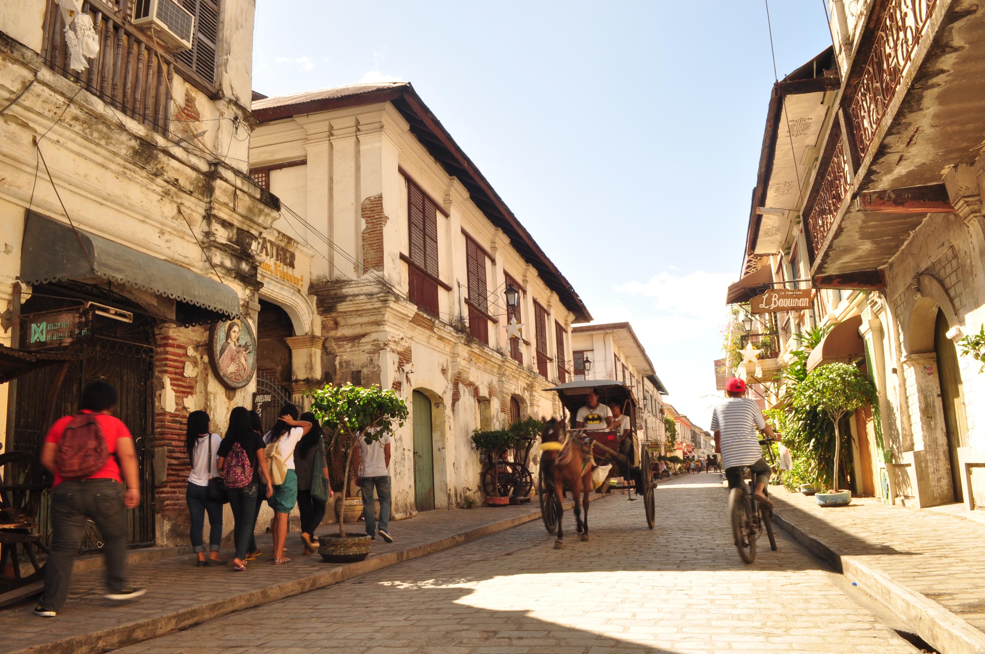 File Calle Crisologo Vigan City Ilocos Sur Jpg Wikimedia Commons