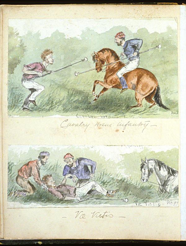 A watercolor sketch, circa 1874 to 1880