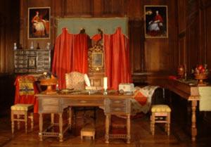Chambre du Château de Condé où séjourna le Cardinal de Richelieu