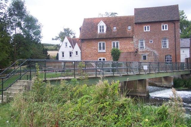 Chartham Corn Mill and Weir footbridge - geograph.org.uk - 1491768
