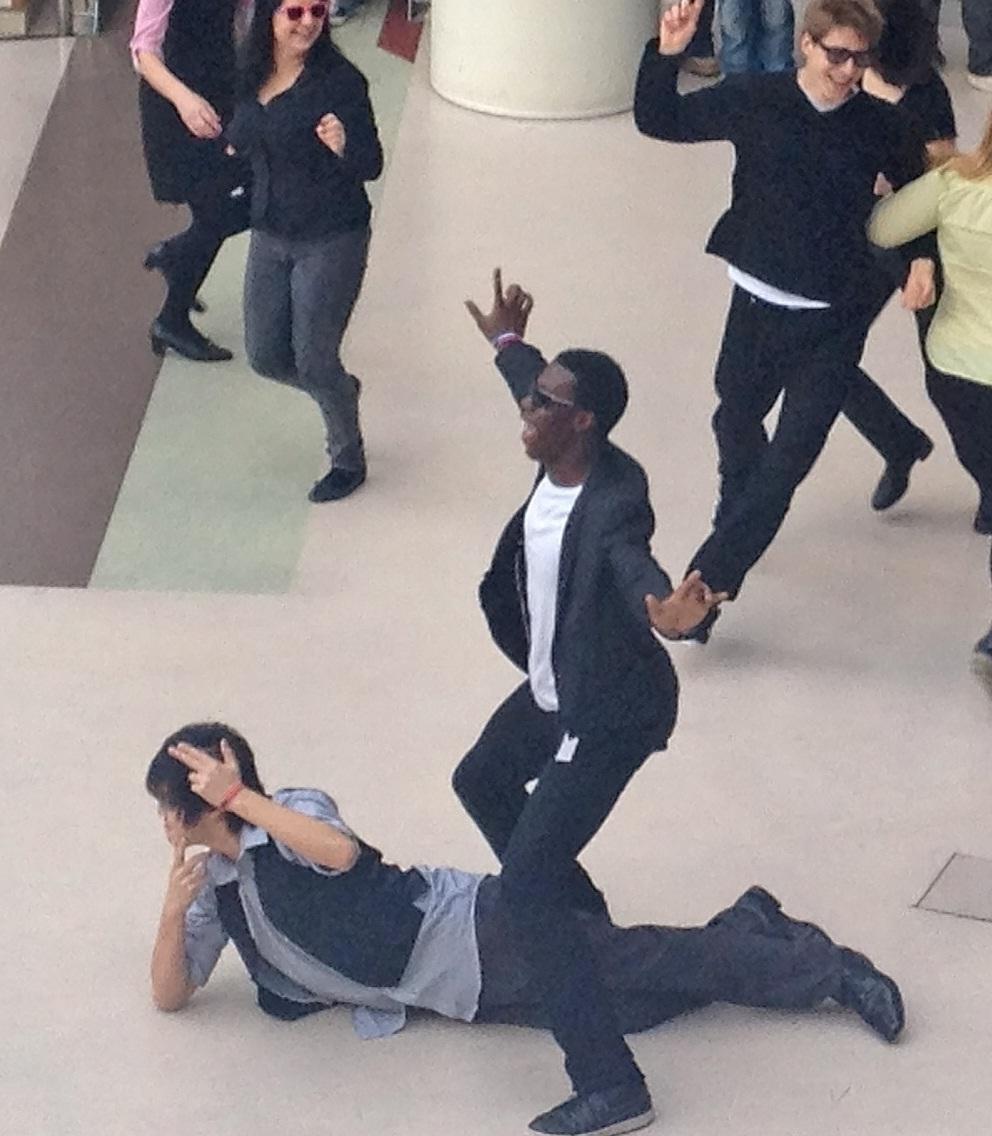 fichierelevator scene during gangnam style flashmobjpg