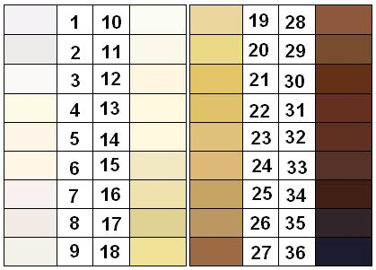 Hundreds Chart Games: Felix von Luschan Skin Color Chart.JPG - Wikimedia Commons,Chart
