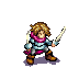 This animated sprite of an attacking fencer unit portrays the general style of Wesnoth sprites. Fencer-anim.png