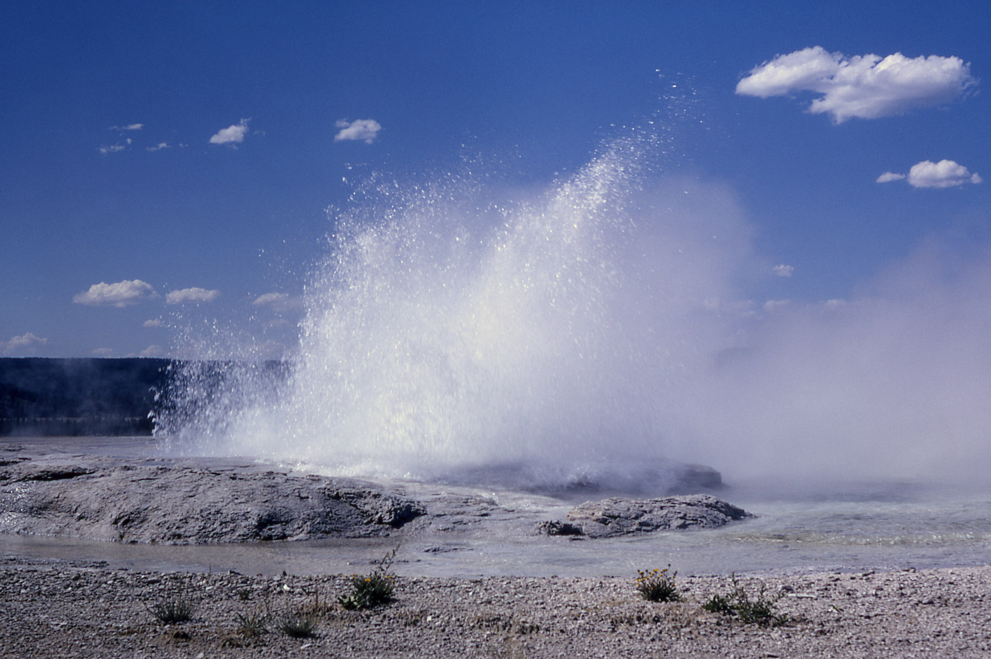 Fountain Geyser in eruption.