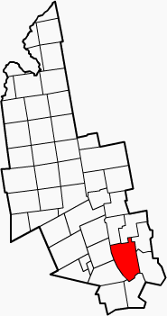 Location in Franklin County, ایالت مین