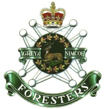 The Grey and Simcoe Foresters Regimental museum in Barrie, Ontario Canada