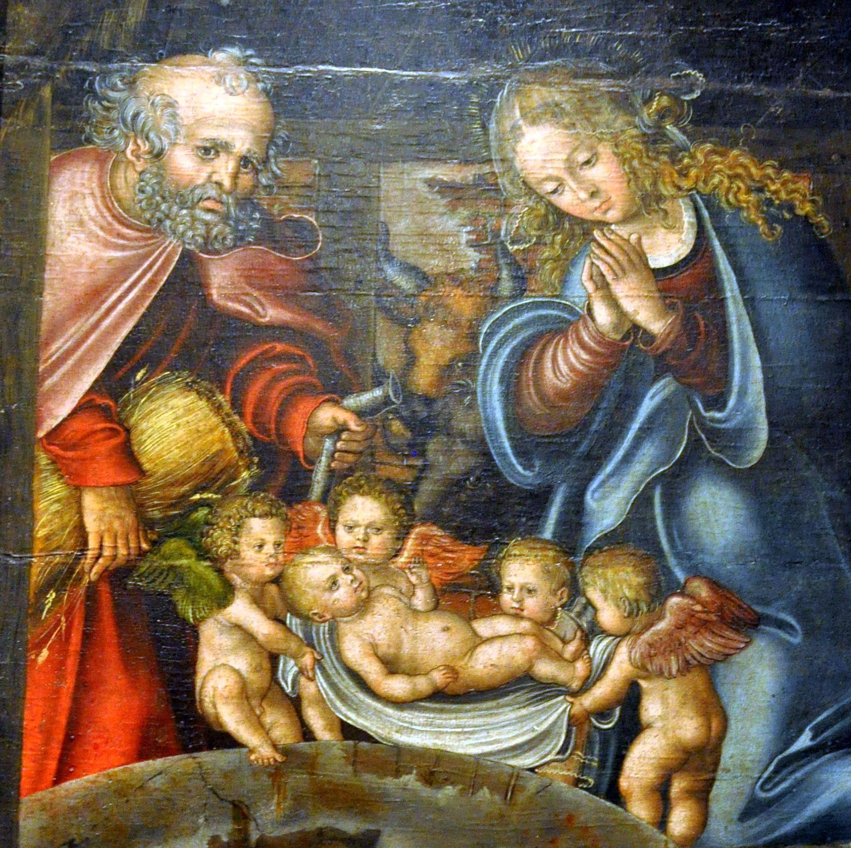 File Geburt Christi Lucas Cranach Der 196 Ltere Detail Jpg