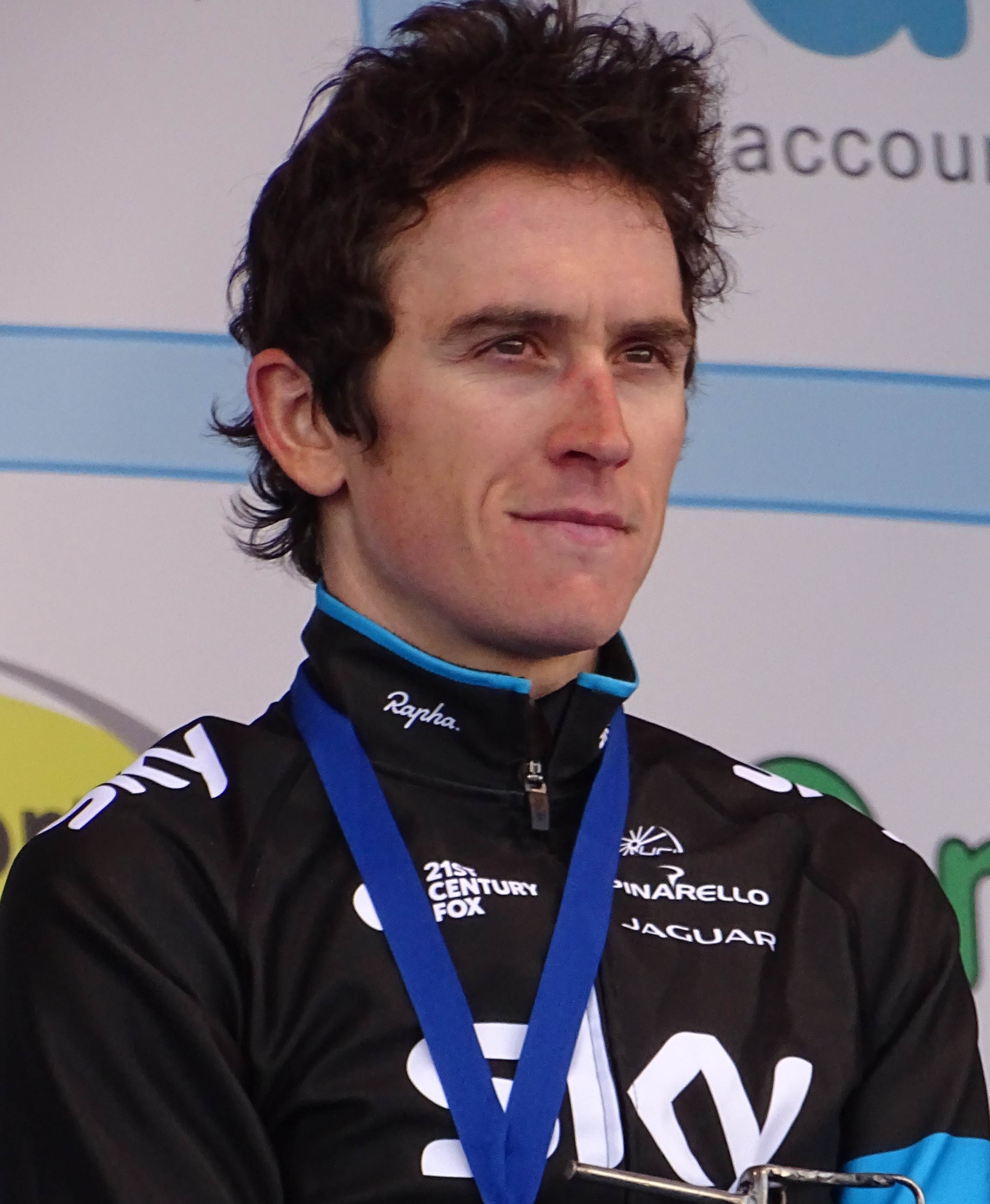 The 32-year old son of father (?) and mother(?) Geraint Thomas in 2018 photo. Geraint Thomas earned a  million dollar salary - leaving the net worth at 0.2 million in 2018