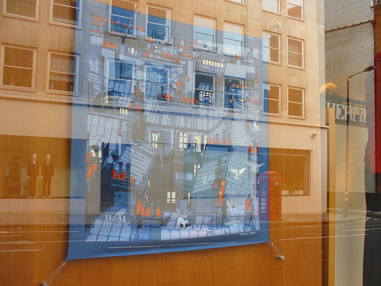 File:Hermès silk scarf in shop window in London.jpg - Wikimedia ...