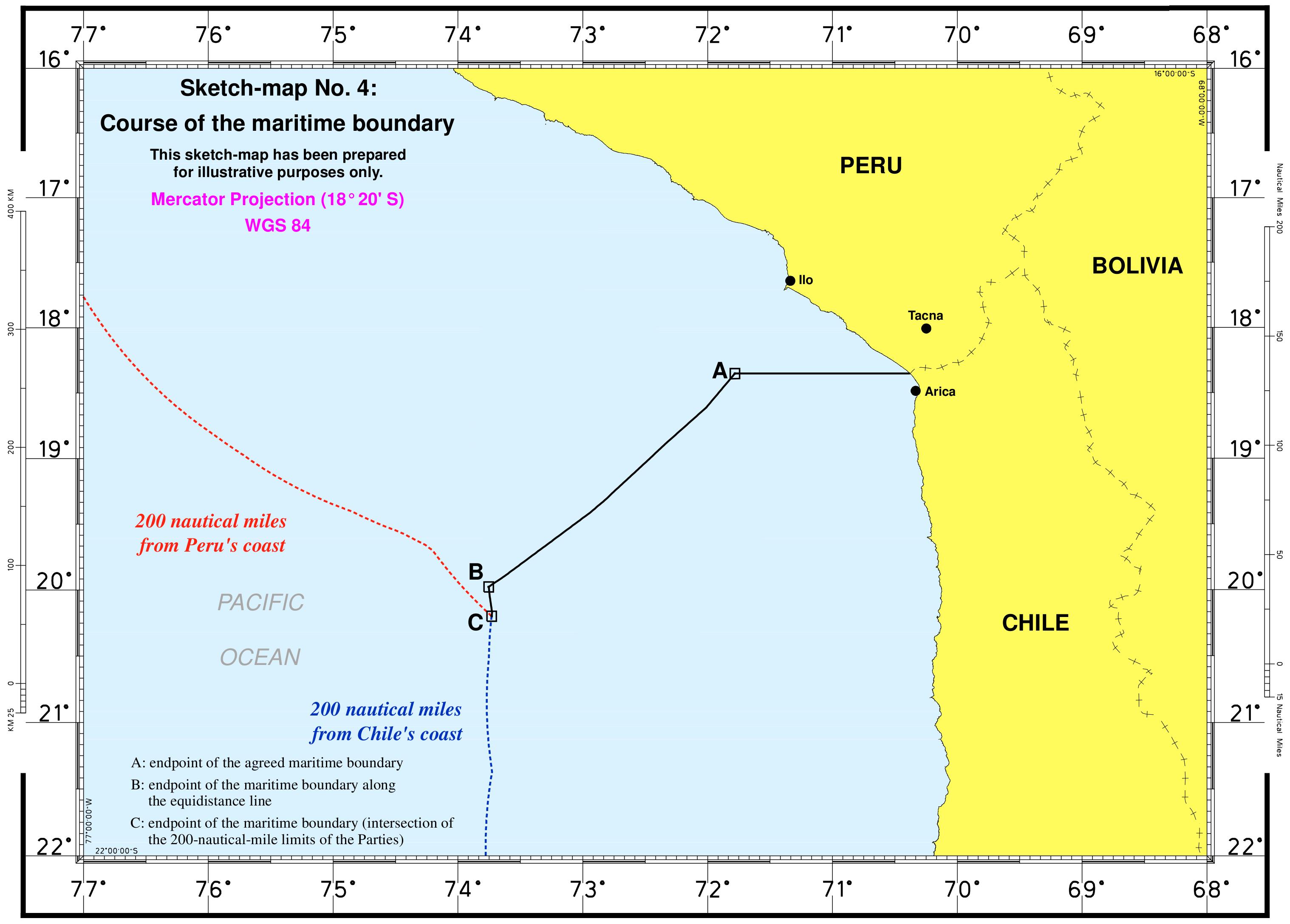 Fallo de la Corte de La Haya sobre la delimitación marítima entre Chile y  Perú - Wikipedia c5a62ec6353e