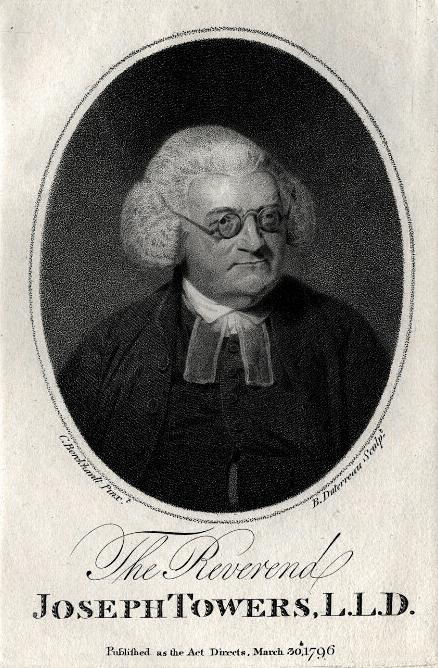 Joseph Towers, (1737-1799), of Southwark, London, Dissenter and biographer.