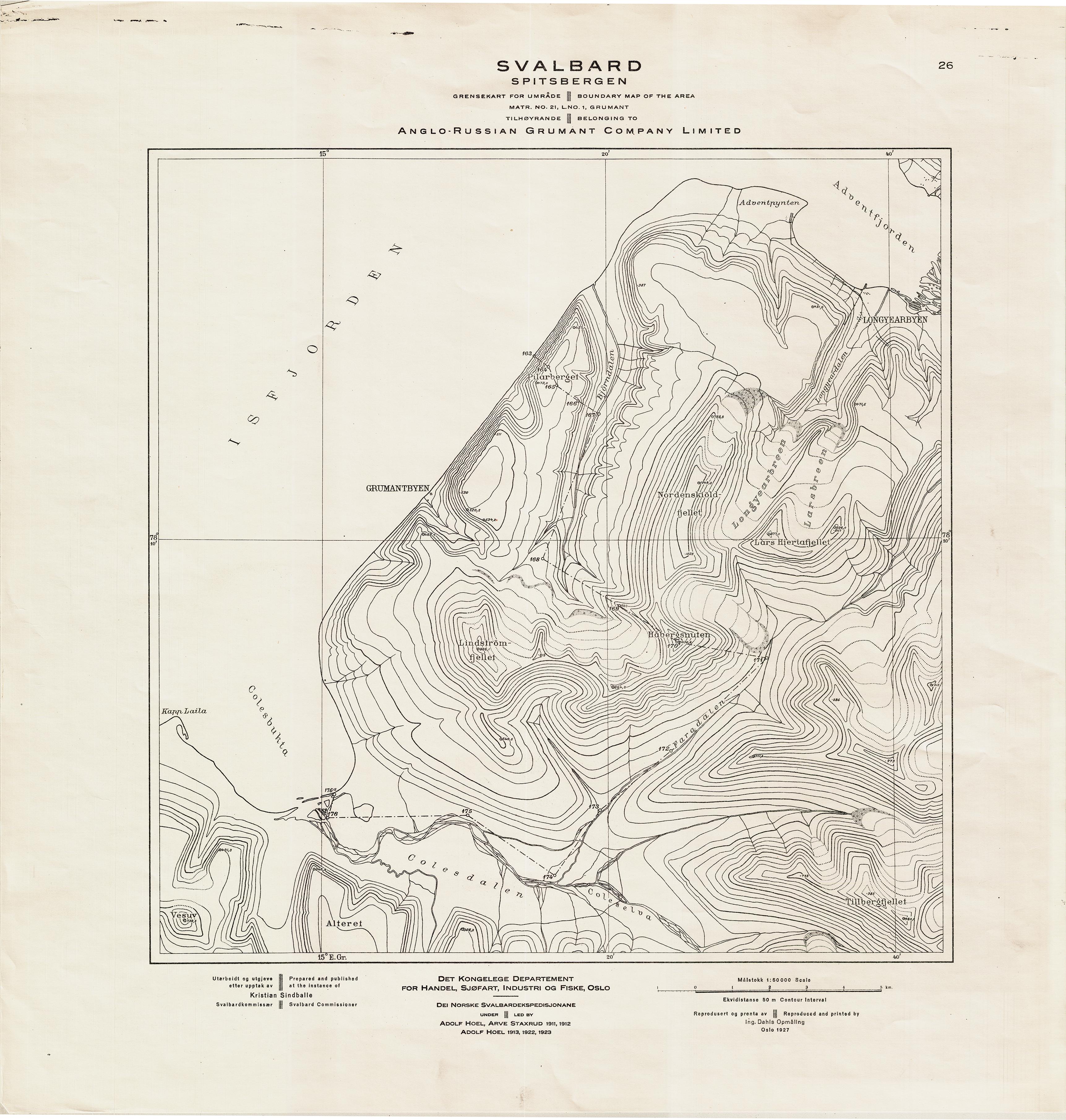 fiske kart File:Kart over Grumant, Svalbard 1927.png   Wikimedia Commons fiske kart