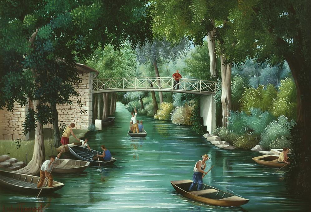 Raphaël Toussaint - Peintre de la Vendée La_Venise_verte_par_Rapha%C3%ABl_Toussaint