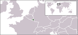 Location of Kadipatén Luksemburg