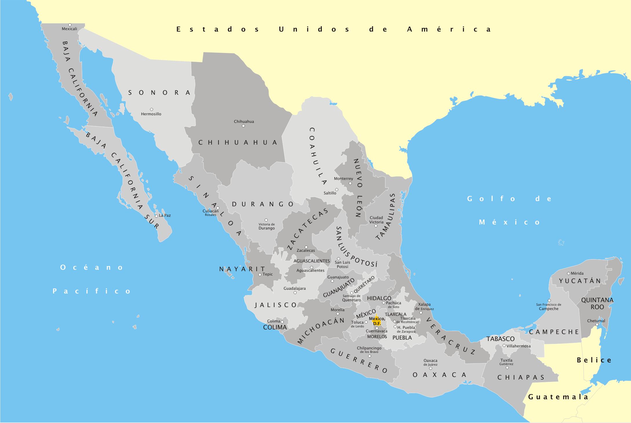 FileMxico Divisin Poltica con nombrespng  Wikimedia Commons