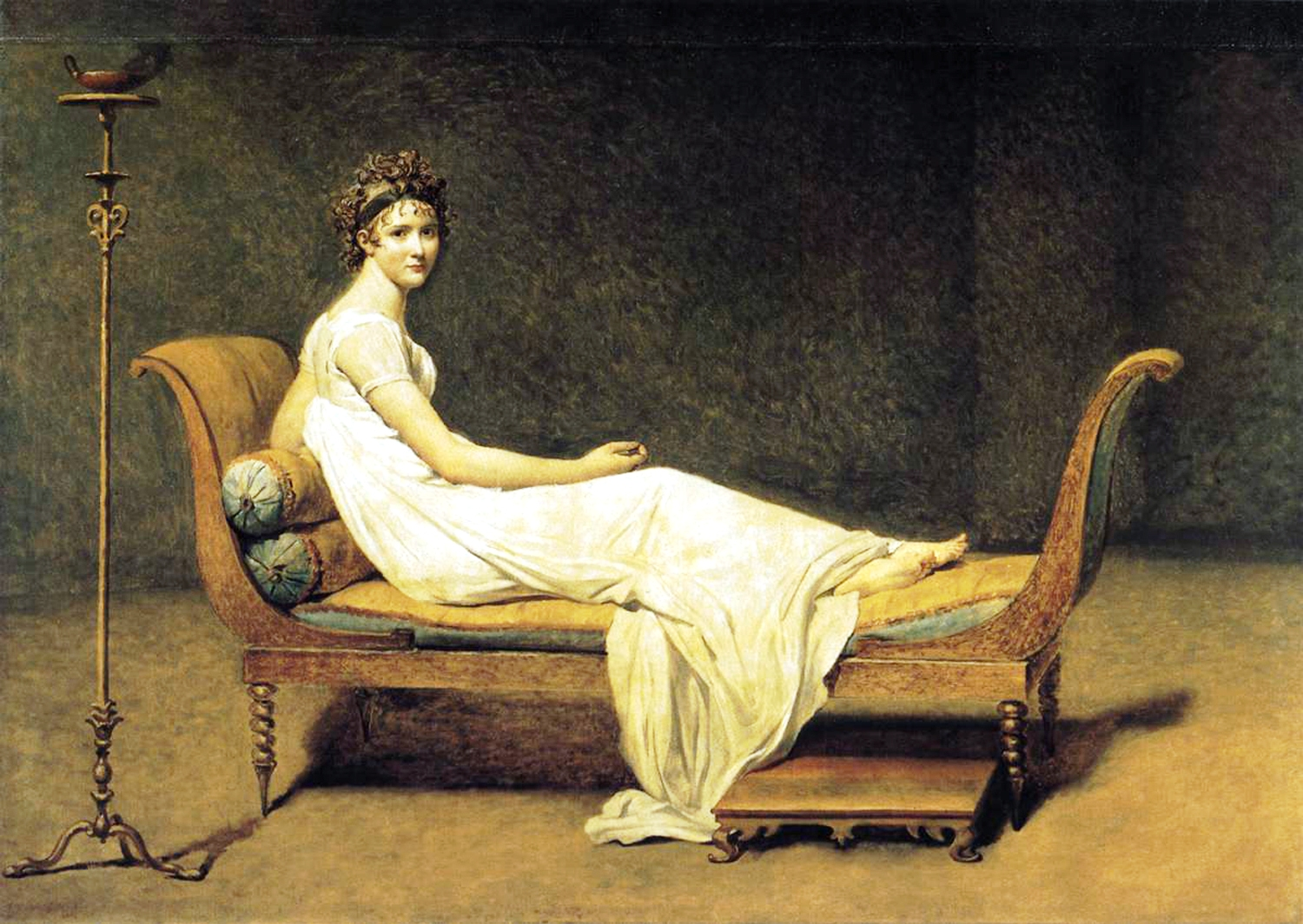 Madame Récamier, retrato de Jacques-Louis David en 1800