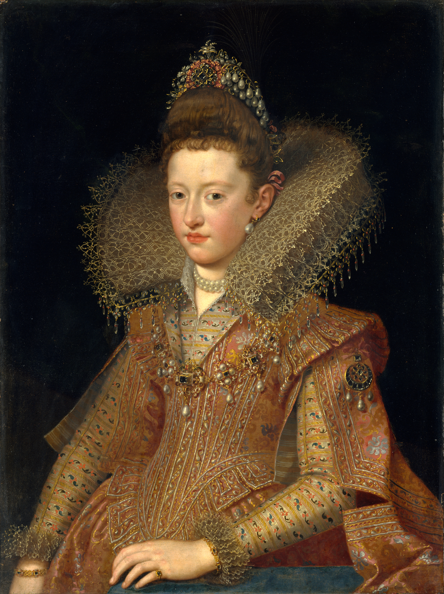 https://upload.wikimedia.org/wikipedia/commons/1/1e/Margarita_Gonzaga%2C_future_Duchess_of_Lorraine_as_depicted_in_1606_by_Frans_Pourbus_the_Younger.jpg