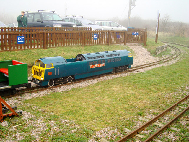 Miniature train terminal - geograph.org.uk - 912203