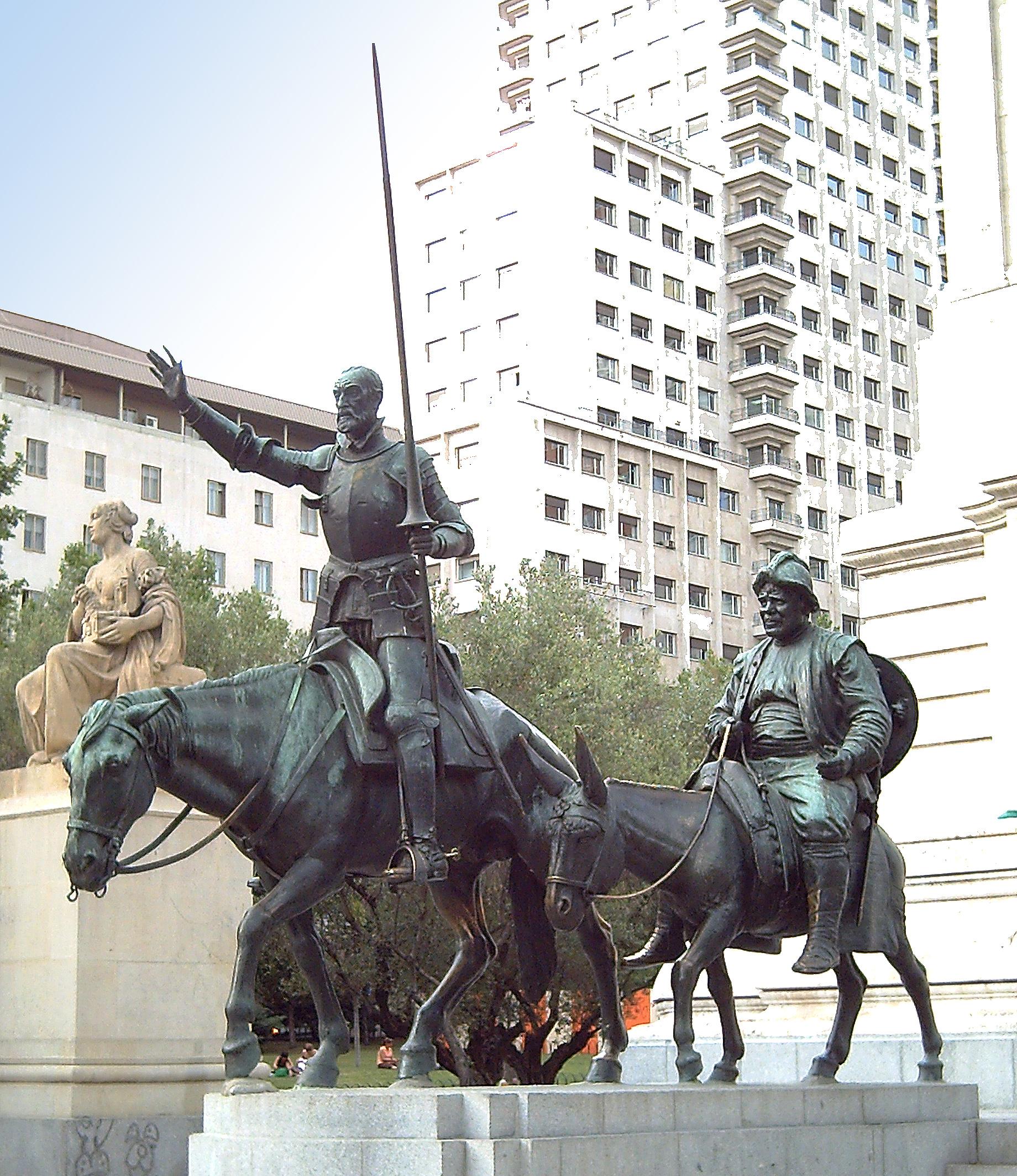 File monumento a cervantes madrid wikimedia - Hotel el quijote madrid ...