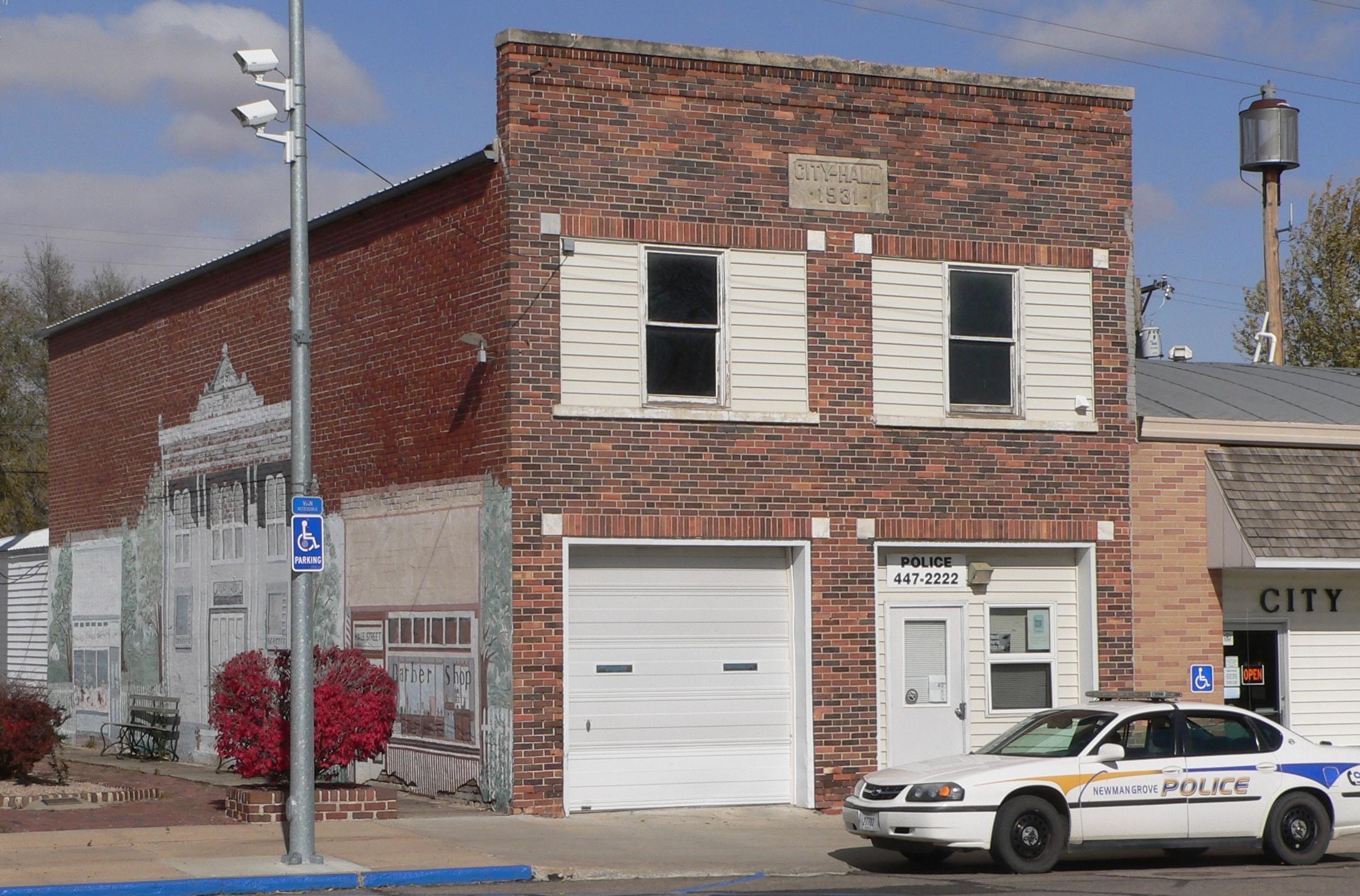 Newman Grove Ne >> File Newman Grove Nebraska City Hall 2 Jpg Wikimedia Commons