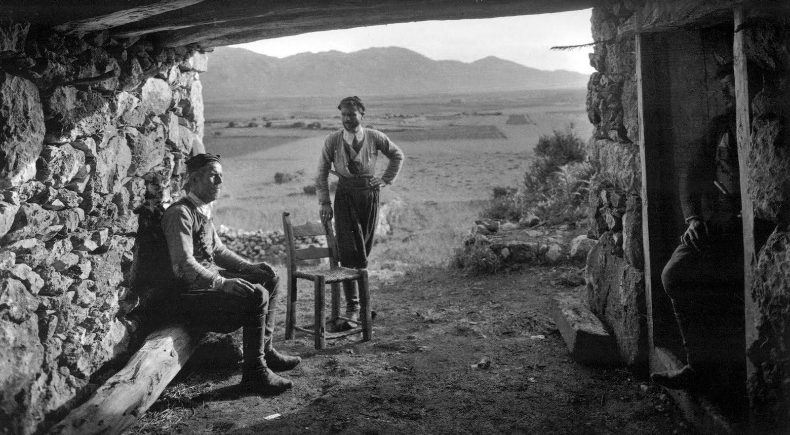 Einwohner von Omalos auf Kreta