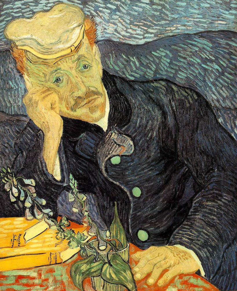 Dr. Gachet, Vincent van Gogh, 1890, oil on canvas