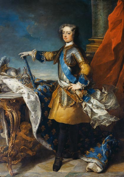 Painting Louis Xv In Throne Room