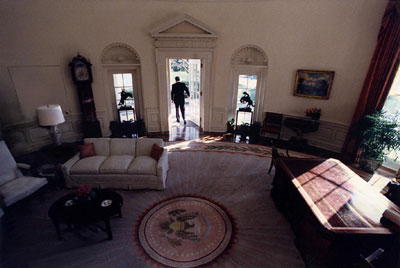 reagan oval office. File:Reagan Leaves Oval Office.jpg Reagan Office