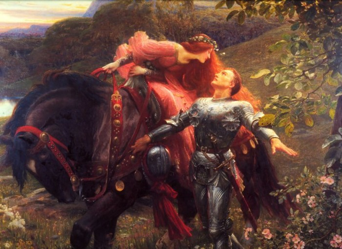 Sir Frank Dicksee, 'La Belle Dame sans Merci' (1890), from Wikimedia Commons