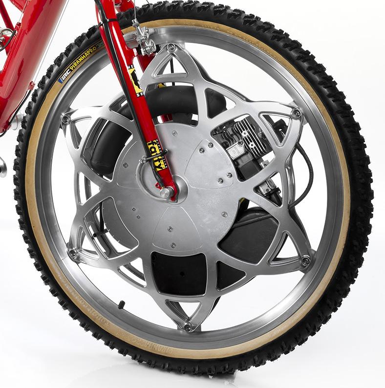 Zweirad mit Frontantrieb RevopowerWheelCloseup