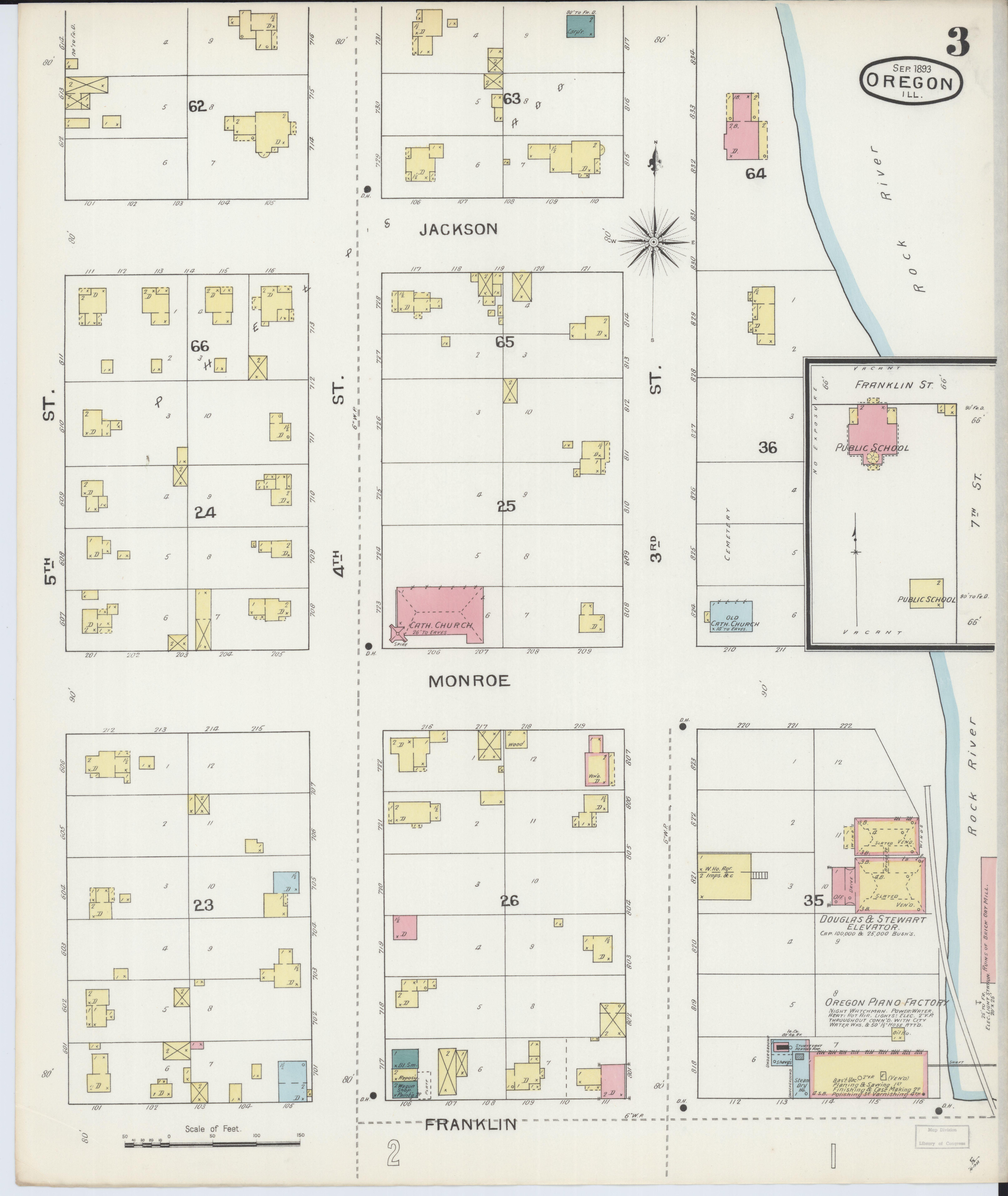 File Sanborn Fire Insurance Map From Oregon Ogle County Illinois