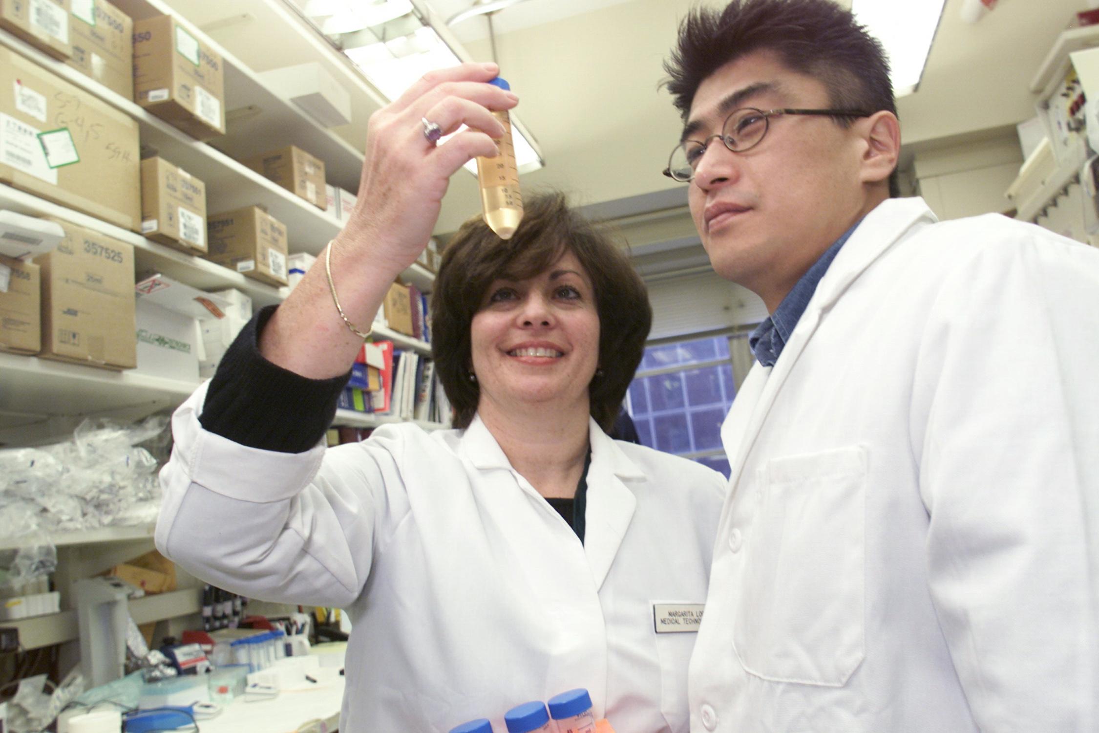 scientists vial examine commons wikimedia