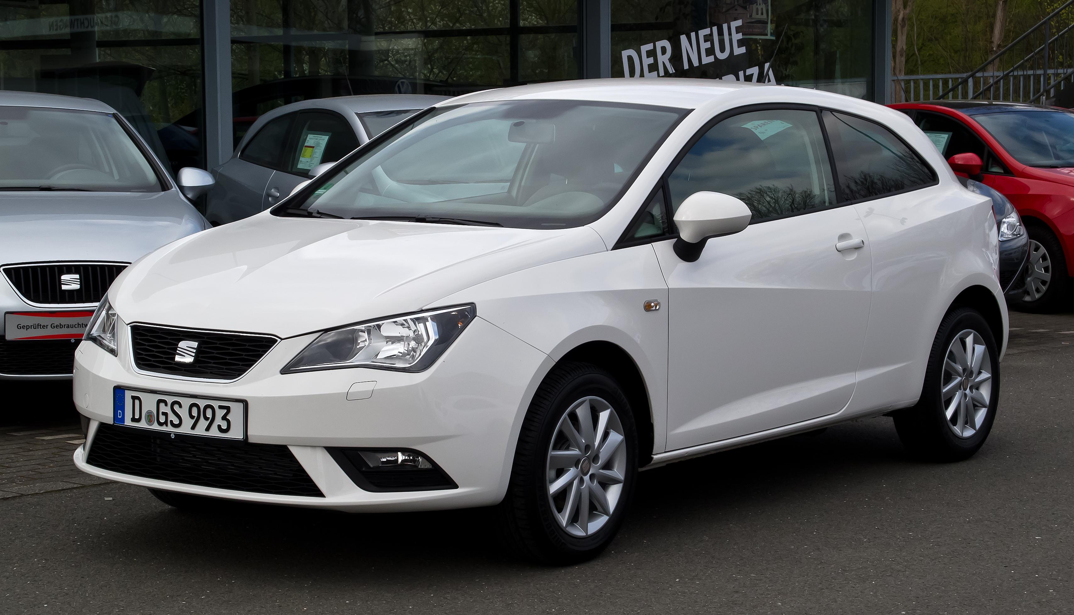 بالصور سيات ابيزا Seat Ibiza SC Style %286J, Facelift%29 %E2%80%93 Frontansicht, 31. M%C3%A4rz 2012, D%C3%BCsseldorf