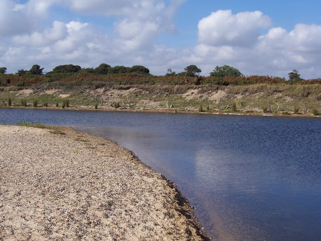 Small lake behind beach - geograph.org.uk - 341028