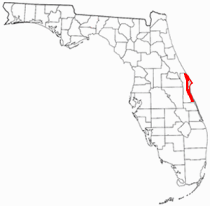 Location of Florida's Space Coast
