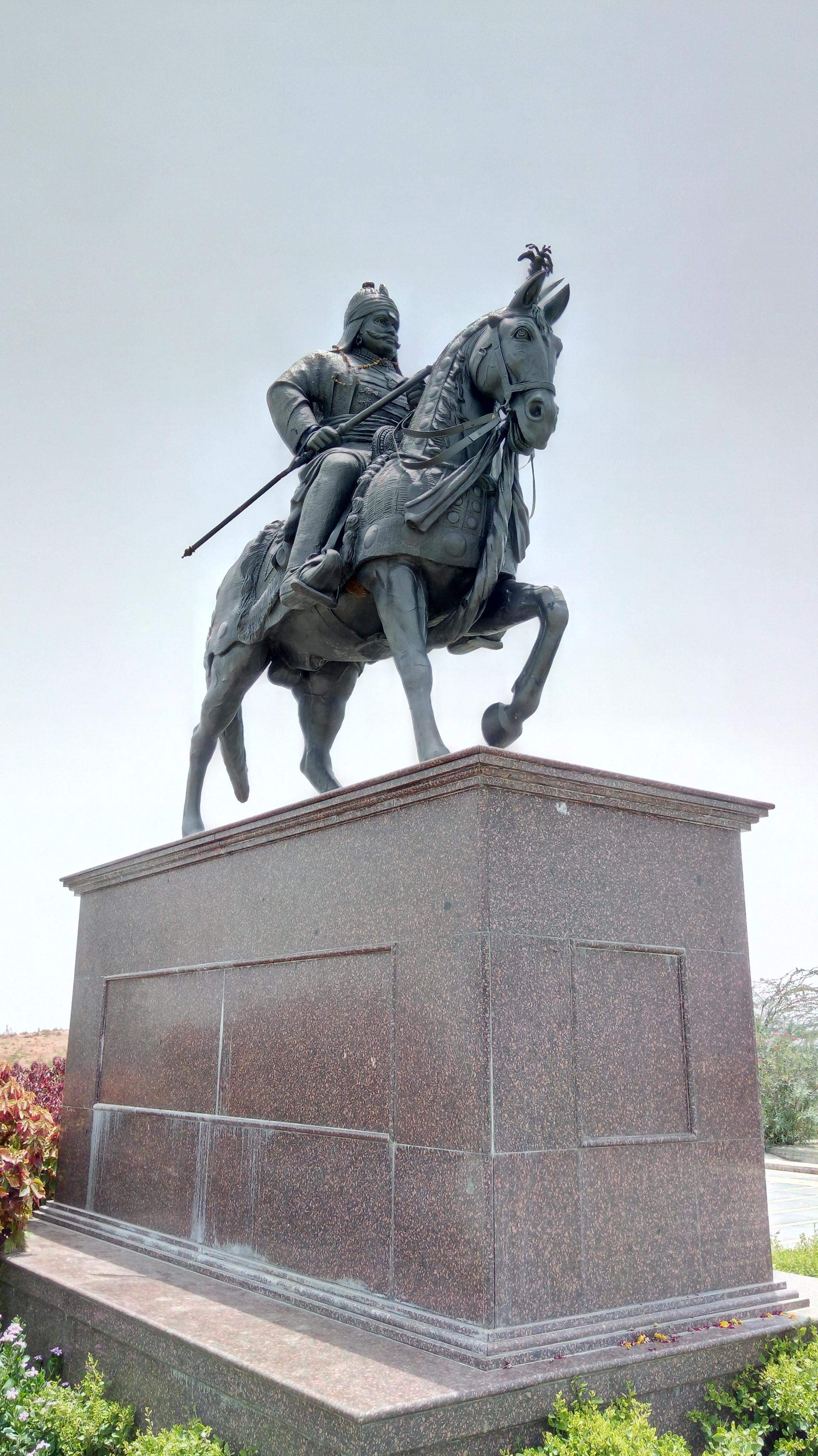 File:Statue of Maharana Pratap jpg - Wikimedia Commons