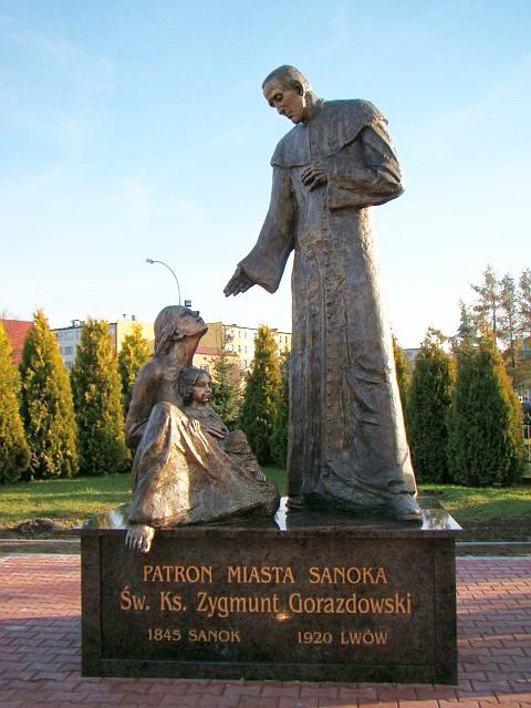 Statue av den hellige Sigmund Gorazdowski i fødebyen Sanok
