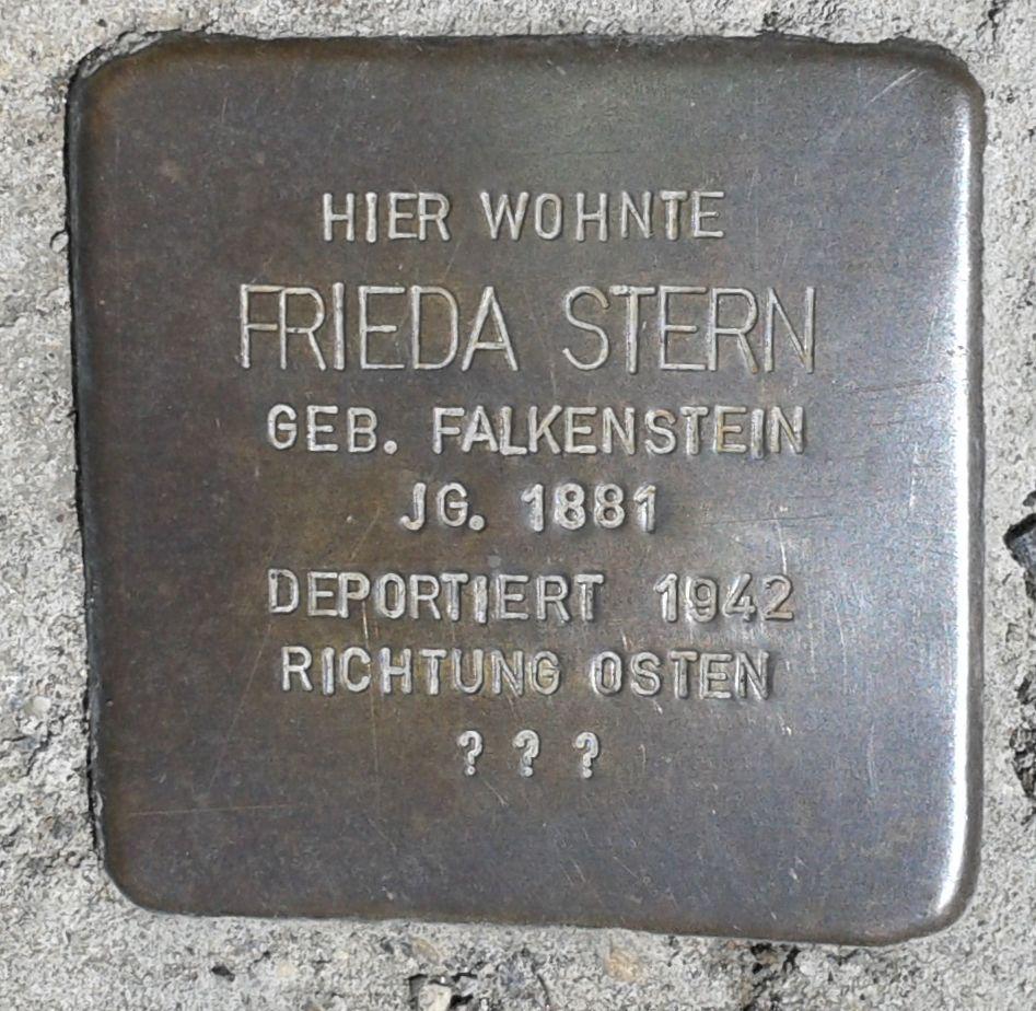 Stolperstein Montabaur Alleestraße 8a Frieda Stern