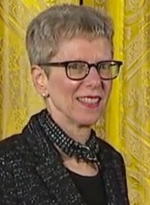 Terry Gross at White House, medal (cropped).jpg