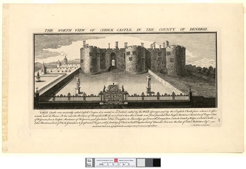 The north view of Chirk castle: in the county of Denbigh