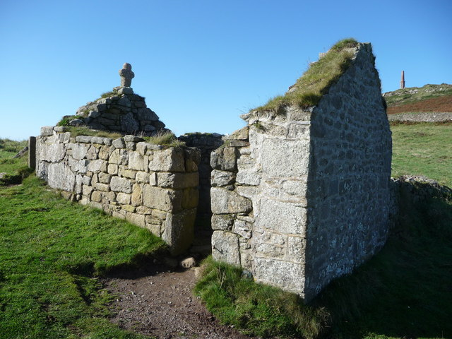 The ruins of St. Helen's Chapel, Cape Cornwall - geograph.org.uk - 2106157