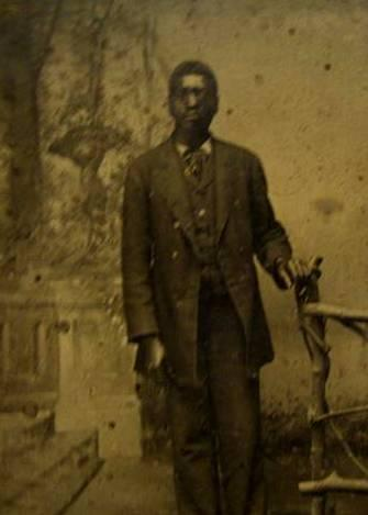 English: tintype of a african american male
