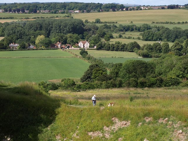 Towards Stratford sub Castle from Old Sarum - geograph.org.uk - 1400463