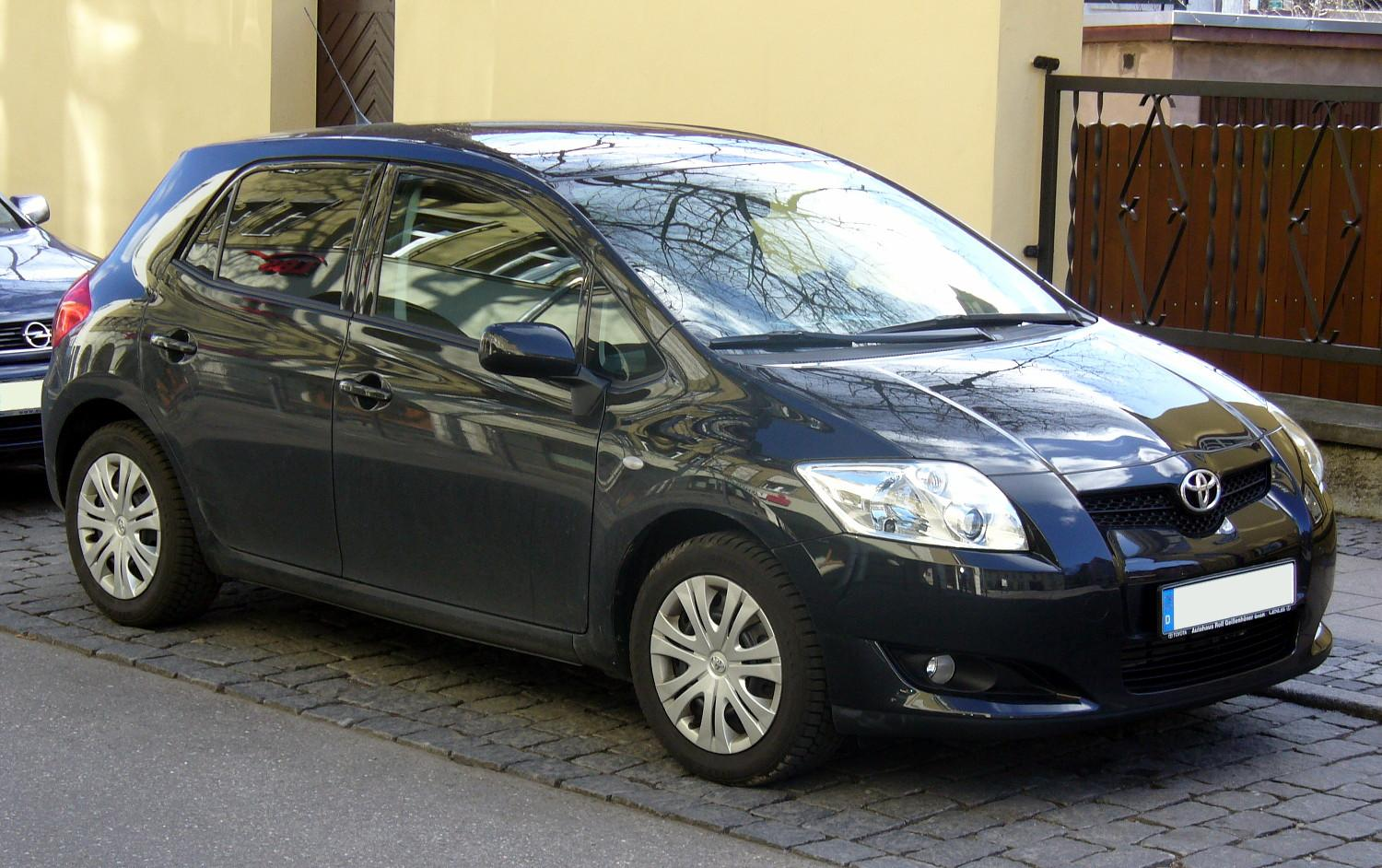 file toyota auris black jpg wikimedia commons. Black Bedroom Furniture Sets. Home Design Ideas