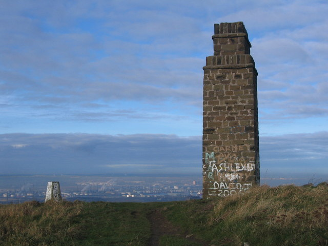 Trig point, tower and Teesmouth - geograph.org.uk - 1625658