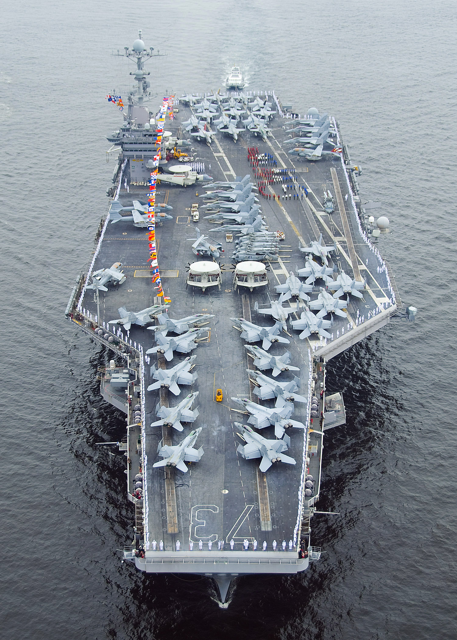 Aircraft carrier uss george washington cvn 73 spell out george