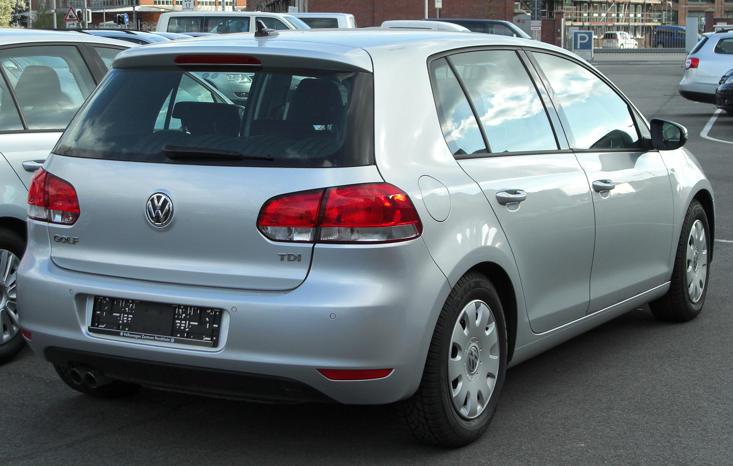 file vw golf vi tdi rear wikimedia commons. Black Bedroom Furniture Sets. Home Design Ideas