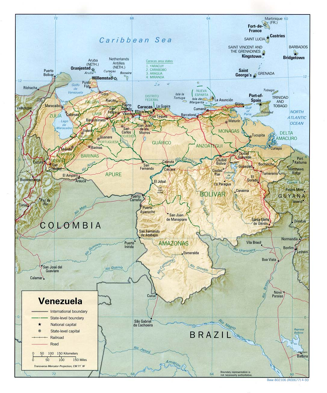 FileVenezuela Reljpg Wikimedia Commons - Aruba physical map