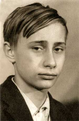 Vladimir Putin as a child The World is A Ghetto